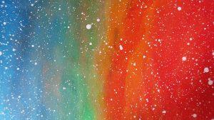 pictura Micul Print acrilice pe panza detaliu culori degrade