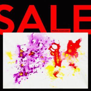 SALE pictura acrilice pe panza de vanzare la reducere mov violet rosu galben acrilice pe panza