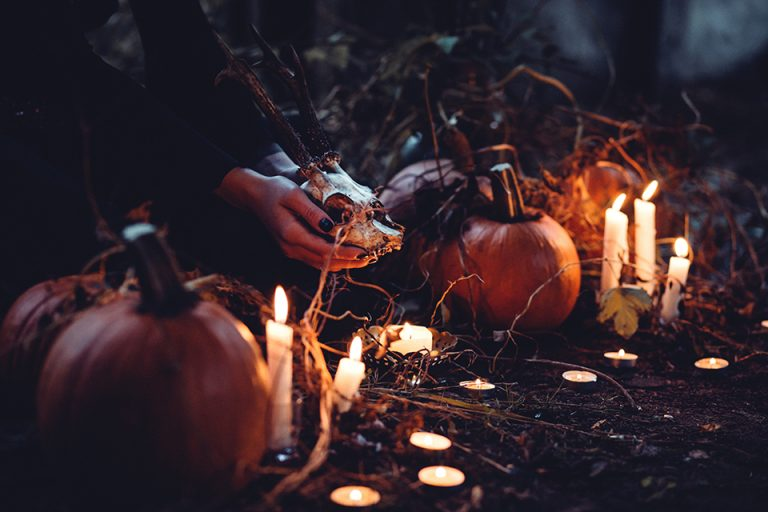 pumpkins nightime halloween wicca wiccan magic ritual