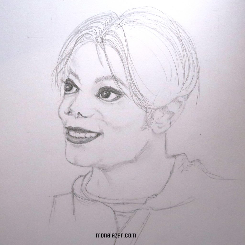 drawing graphics pencil graphite Michael Jackson in the video Childhood vivid alive eyes king of pop beautiful art